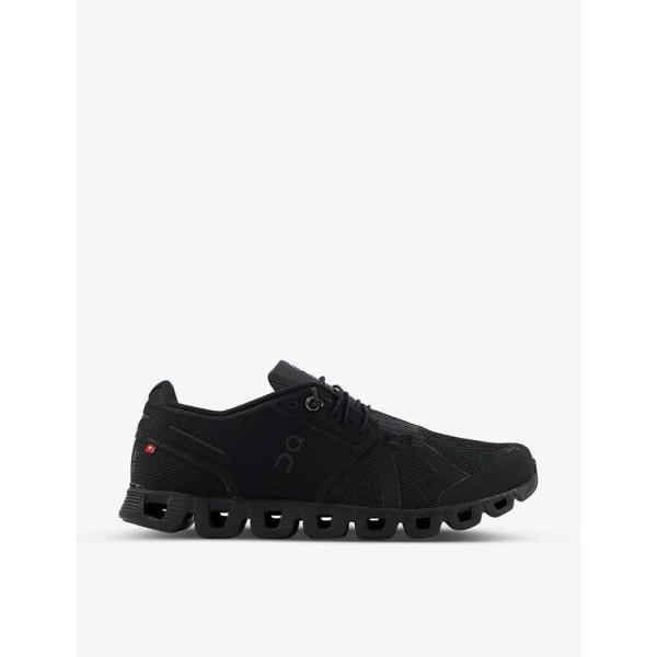 オン ランニング ON-RUNNING メンズ スニーカー シューズ・靴 Cloud mesh mid-top trainers BLACK BLACK