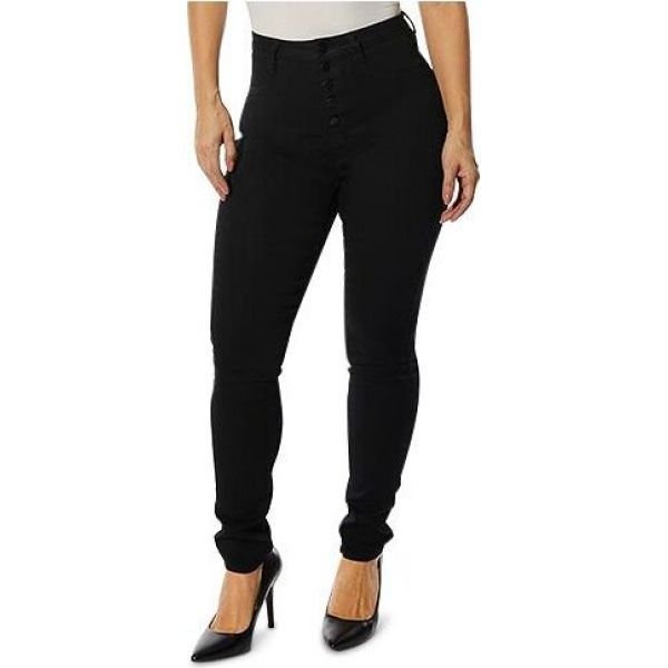 ドールハウス Dollhouse レディース ジーンズ・デニム スキニー ボトムス・パンツ Juniors' High-Rise Curvy Skinny Jeans With Back Yoke Seam Detail Black