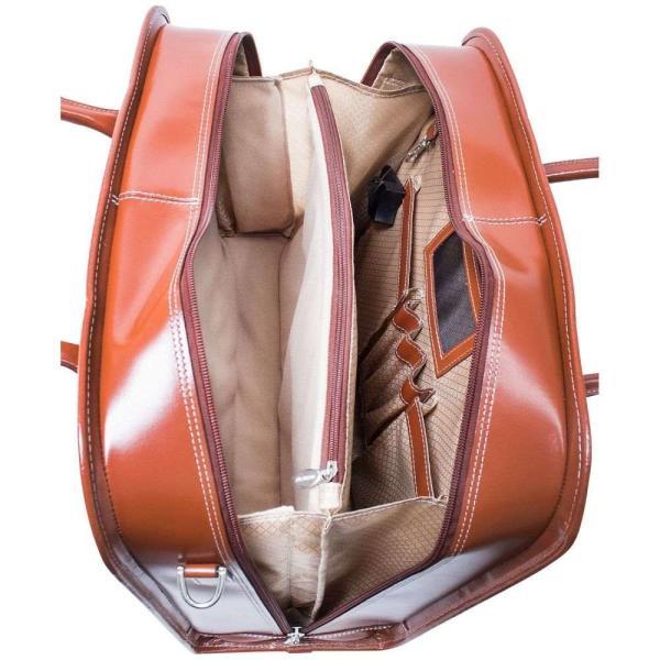 マックレーン McKlein ユニセックス スーツケース・キャリーバッグ バッグ Willowbrook Detachable Wheeled Briefcase Brown