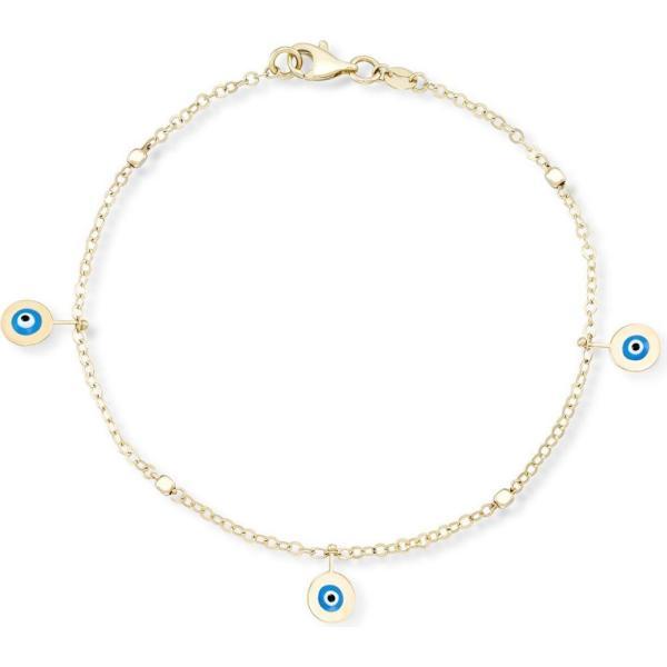 メイシーズ Macy's レディース ブレスレット チャーム ジュエリー・アクセサリー Enamel Evil Eye Charm Bracelet in 10k Gold Gold