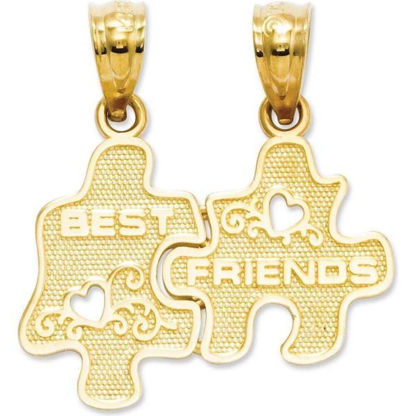 メイシーズ Macy's レディース ジュエリー・アクセサリー 14k Gold Charm, Best Friends Puzzle Break-Apart Charm No Color