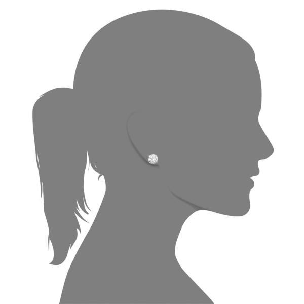 アラベラ Arabella レディース イヤリング・ピアス 14k White Gold Earrings, Swarovski Zirconia Round Stud Earrings (6-5/8 ct. t.w.)