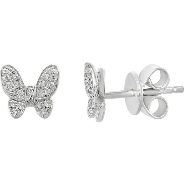 LADIES HOOP EARRINGS 925 STERLING SILVER W//3 CT DIAMONDS 1 1//8/'/' DIAMETER