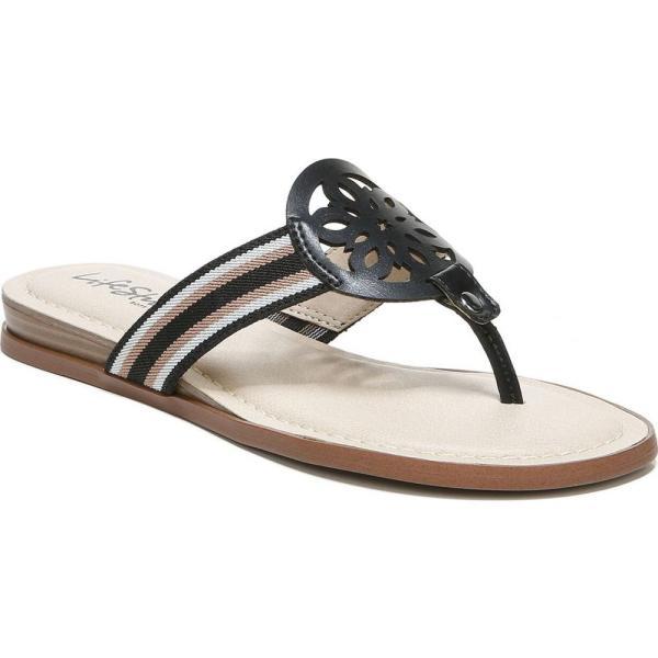 ライフストライド LifeStride レディース サンダル・ミュール ビーチサンダル シューズ・靴 Raegan Thong Sandals Black Multi