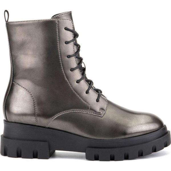 オリビアミラー Olivia Miller レディース ブーツ コンバットブーツ シューズ・靴 'Exhale' High Shine Combat Boots Pewter|fermart-shoes|02