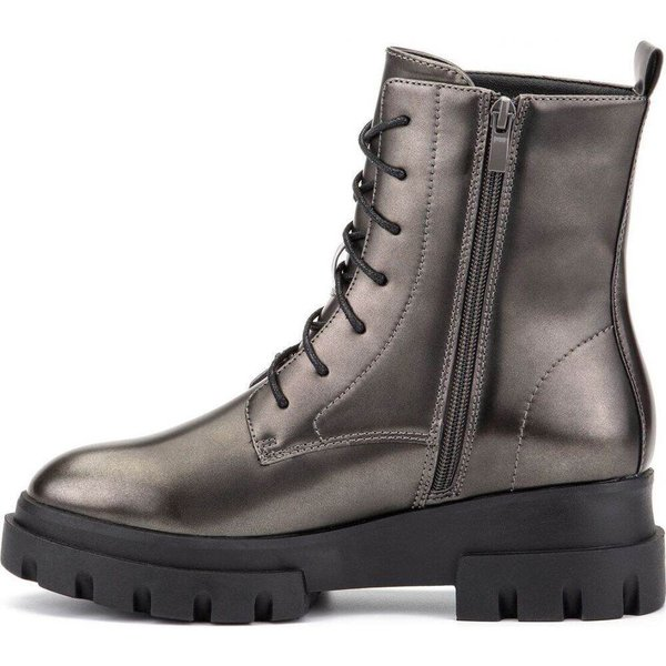オリビアミラー Olivia Miller レディース ブーツ コンバットブーツ シューズ・靴 'Exhale' High Shine Combat Boots Pewter|fermart-shoes|03