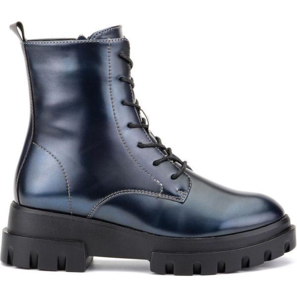 オリビアミラー Olivia Miller レディース ブーツ コンバットブーツ シューズ・靴 'Exhale' High Shine Combat Boots Pewter|fermart-shoes|07