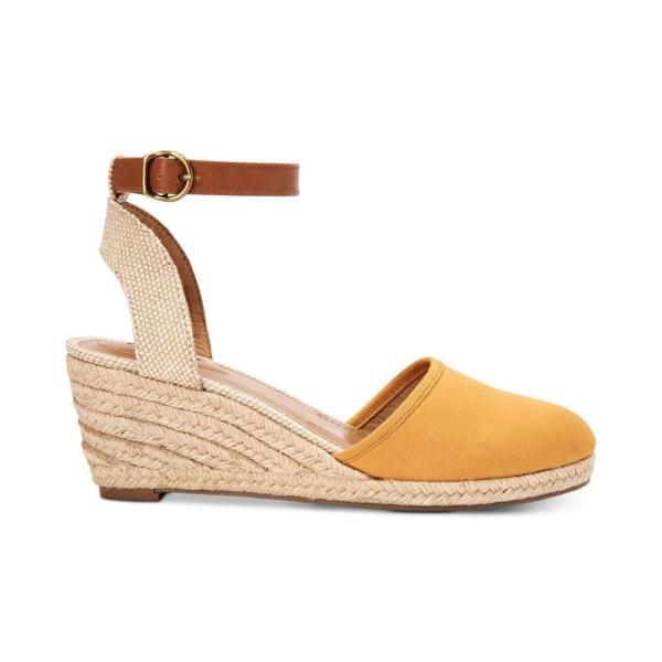 スタイル&コー Style & Co レディース エスパドリーユ シューズ・靴 Mailena Wedge Espadrille Sandals Yellow