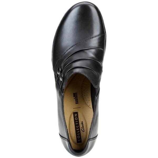 クラークス Clarks レディース スリッポン・フラット シューズ・靴 Collection Everlay Romy Flats Black Leat