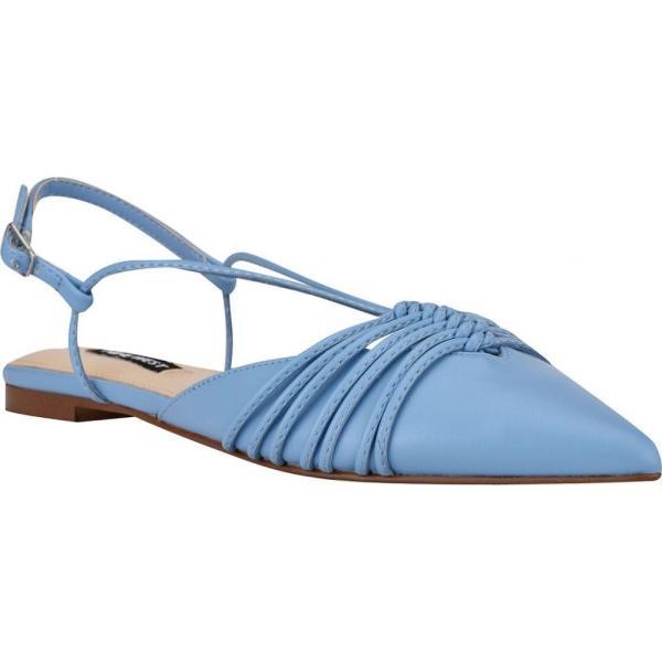 ナインウエスト Nine West レディース スリッポン・フラット シューズ・靴 Aida Strappy Slingback Flats Light Blue