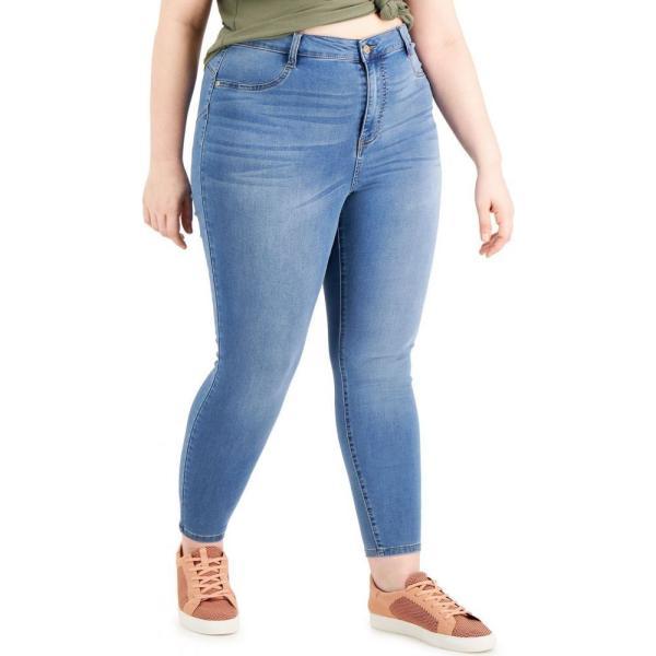 ドールハウス Dollhouse レディース ジーンズ・デニム 大きいサイズ スキニー ボトムス・パンツ Trendy Plus Size High-Rise Skinny Jeans Light
