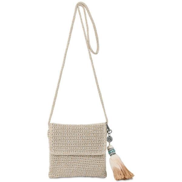 ザ サク The Sak レディース ショルダーバッグ バッグ Costa Mesa Crochet Mini Bag Bamboo Sparkle/Gold