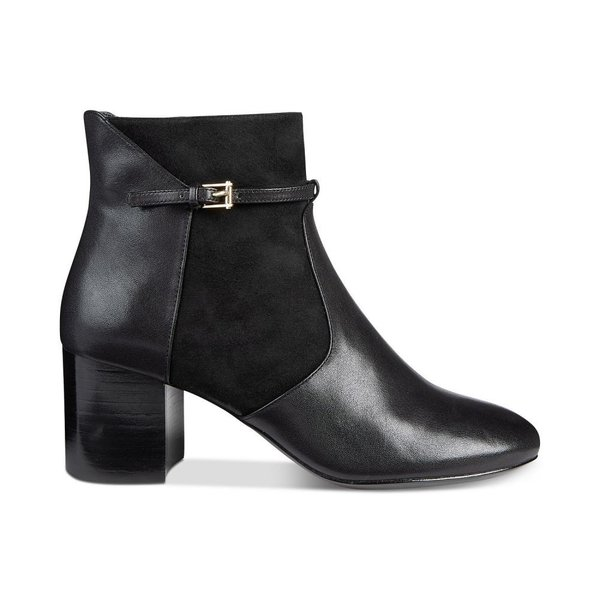 コールハーン Cole Haan レディース ブーツ シューズ・靴 Paulina Grand Buckle Booties Black Leather/Suede