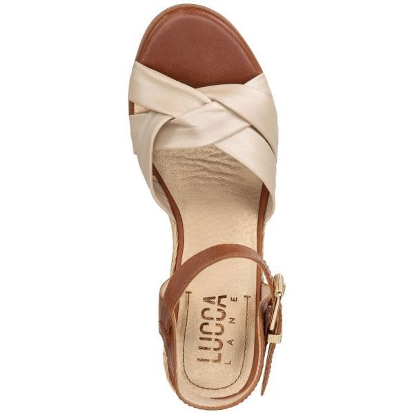 ルッカ レーン Lucca Lane レディース エスパドリーユ シューズ・靴 Hermione Espadrille Wedge Sandals Champagne