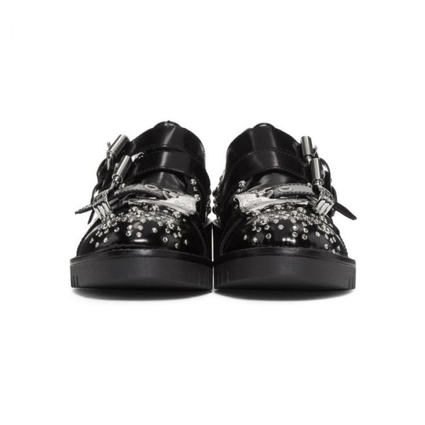 アレキサンダー マックイーン McQ Alexander McQueen レディース ローファー・オックスフォード シューズ・靴 Black Studded Ellis Brogues