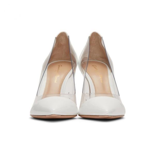 ジャンヴィト ロッシ Gianvito Rossi レディース ヒール シューズ・靴 White Patent Plexi Heels