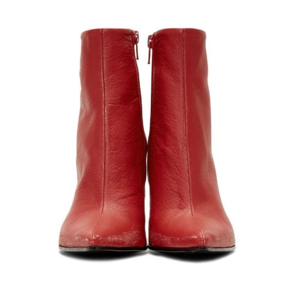 メゾン マルジェラ MM6 Maison Margiela レディース ブーツ シューズ・靴 Red Distressed Pointed Toe Boots