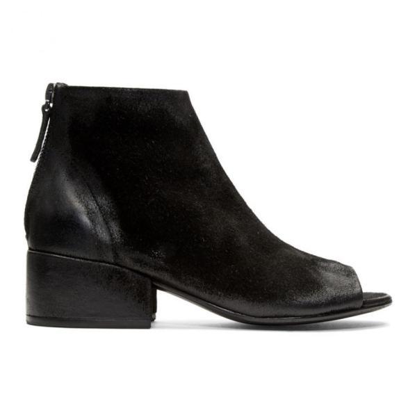 マルセル Marsell レディース ブーツ シューズ・靴 Black Cubetto Tronchetto Sandal Boots