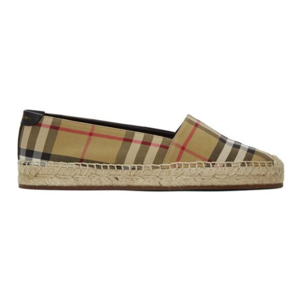 バーバリー Burberry レディース エスパドリーユ シューズ・靴 Beige Check Hodgeson Espadrilles