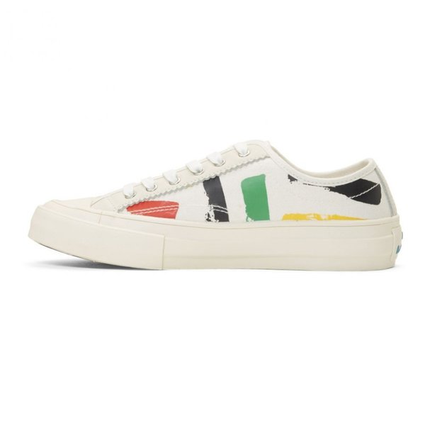 ポールスミス PS by Paul Smith メンズ スニーカー シューズ・靴 White Painted Sports Stripes Fennec Sneakers|fermart-shoes|03