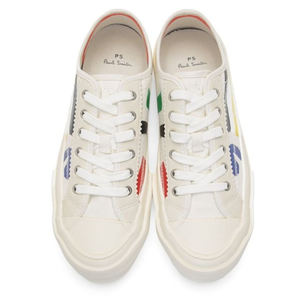 ポールスミス PS by Paul Smith メンズ スニーカー シューズ・靴 White Painted Sports Stripes Fennec Sneakers|fermart-shoes|05