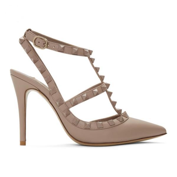 ヴァレンティノ Valentino レディース ヒール シューズ・靴 Pink Garavani Tonal Rockstud Heels