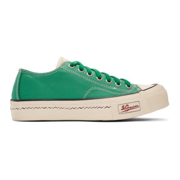 ビズビム Visvim レディース スニーカー シューズ・靴 Green Skagway Lo Patten Sneakers