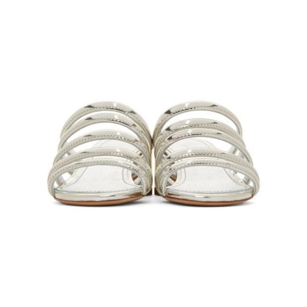 マンサーガブリエル Mansur Gavriel レディース サンダル・ミュール シューズ・靴 Silver Multi Strap Sandals