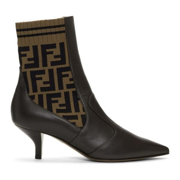 フェンディ Fendi レディース ブーツ シューズ・靴 Brown 'Forever ' Rockoko Boots