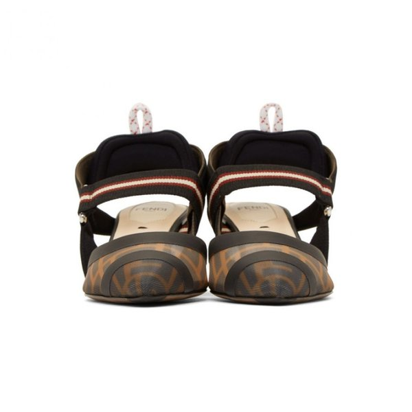 フェンディ Fendi レディース ヒール シューズ・靴 Black 'Forever ' Colibri 55 Slingback Heels
