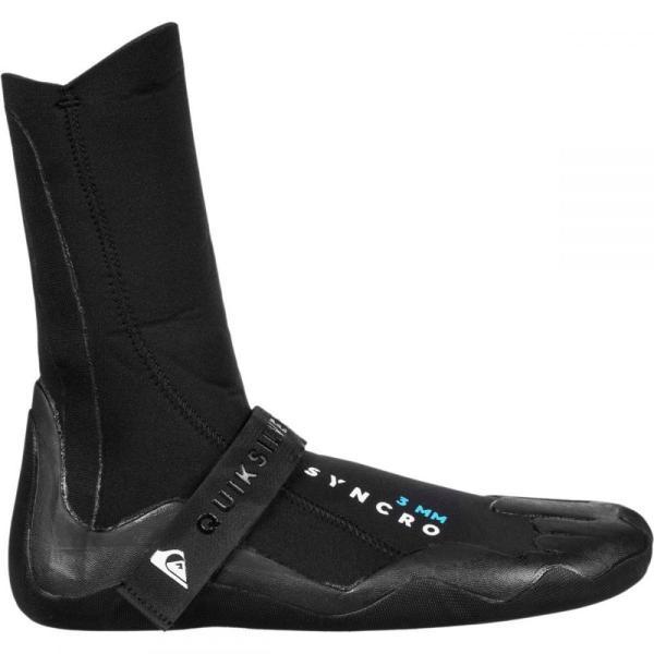 クイックシルバー メンズ シューズ・靴 サーフィン 3.0 Syncro Round Toe Boots Black|fermart-shoes