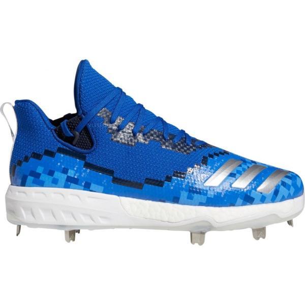 アディダス adidas メンズ 野球 スパイク シューズ?靴 Icon V 8-Bit Metal Baseball Cleats Royal/White fermart-shoes 01