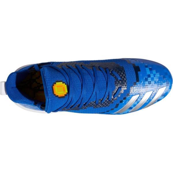 アディダス adidas メンズ 野球 スパイク シューズ?靴 Icon V 8-Bit Metal Baseball Cleats Royal/White fermart-shoes 04