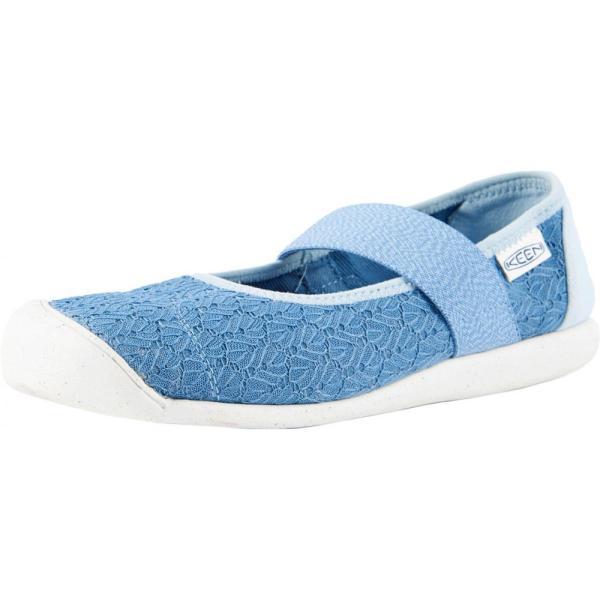キーン Keen レディース スリッポン・フラット シューズ・靴 Sienna MJ Canvas Provincial Blue/Sterling Blue