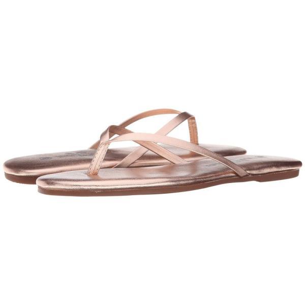 ヨシ サムラ Yosi Samra レディース ビーチサンダル シューズ・靴 Roee Metallic Leather Flip Flop Rosegold