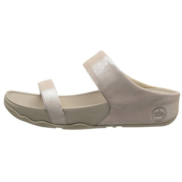 フィットフロップ FitFlop レディース ビーチサンダル シューズ・靴 Lulu Shimmersuede Slide Nude