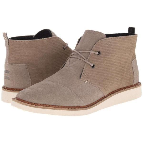 トムズ メンズ ブーツ シューズ・靴 Mateo Chukka Boot Desert Taupe Embossed Suede fermart-shoes
