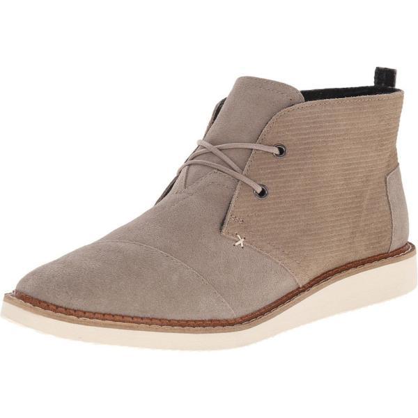 トムズ メンズ ブーツ シューズ・靴 Mateo Chukka Boot Desert Taupe Embossed Suede fermart-shoes 02