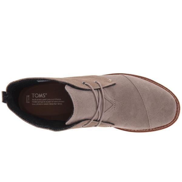 トムズ メンズ ブーツ シューズ・靴 Mateo Chukka Boot Desert Taupe Embossed Suede fermart-shoes 03