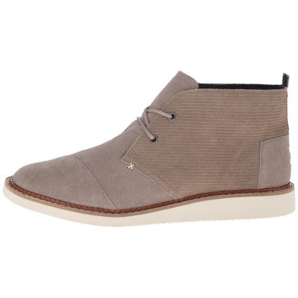 トムズ メンズ ブーツ シューズ・靴 Mateo Chukka Boot Desert Taupe Embossed Suede fermart-shoes 05