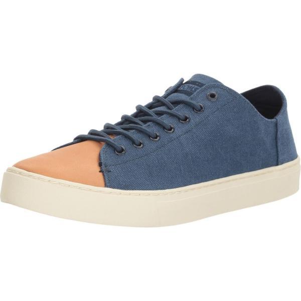 トムズ メンズ スニーカー シューズ・靴 Lenox Sneaker Navy Washed Canvas/Leather fermart-shoes 02