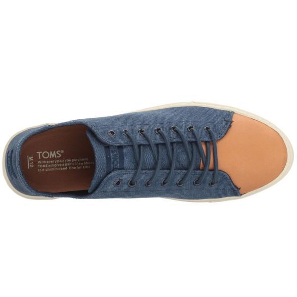 トムズ メンズ スニーカー シューズ・靴 Lenox Sneaker Navy Washed Canvas/Leather fermart-shoes 03