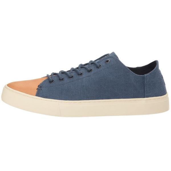 トムズ メンズ スニーカー シューズ・靴 Lenox Sneaker Navy Washed Canvas/Leather fermart-shoes 05