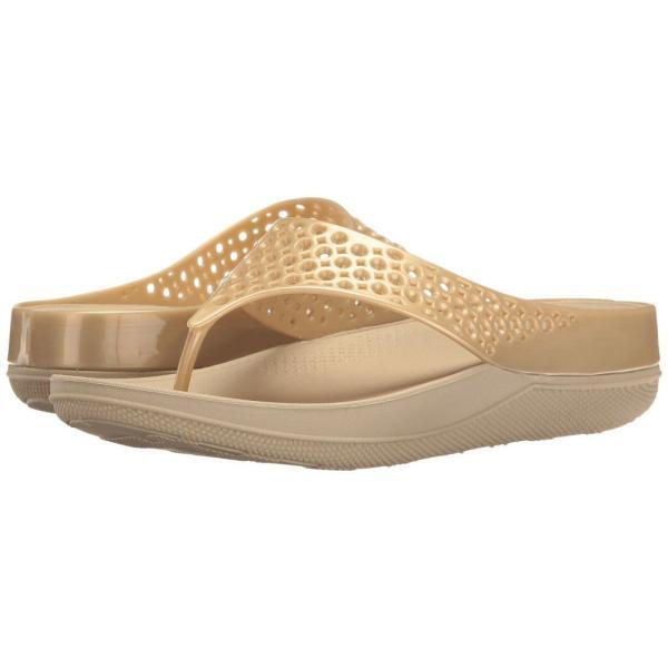 フィットフロップ FitFlop レディース ビーチサンダル シューズ・靴 Ringer Welljelly Flip-Flop Gold