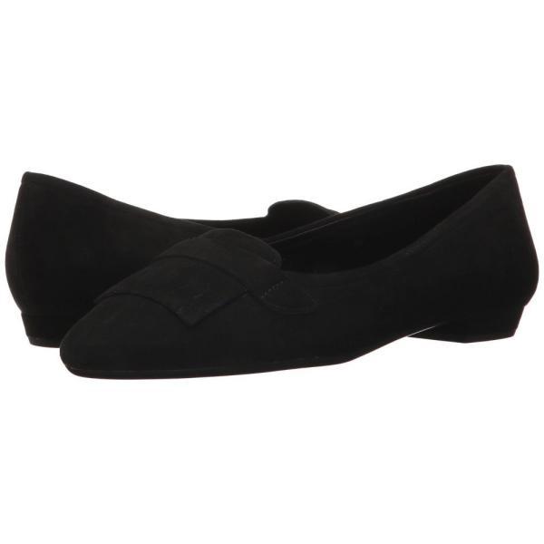 ヴァネリ レディース スリッポン・フラット シューズ・靴 Gaea Black Suede