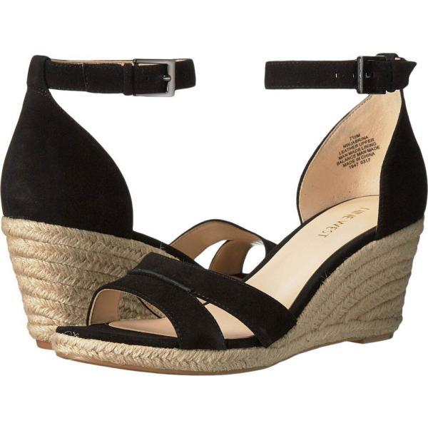 ナインウェスト Nine West レディース エスパドリーユ シューズ・靴 Jabrina Espadrille Wedge Sandal Black Suede
