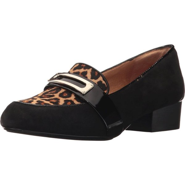 ソフト レディース シューズ・靴 Brandis Black/Leopard Tan