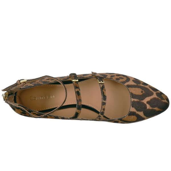 カルバンクライン Calvin Klein レディース スリッポン・フラット シューズ・靴 Gavinia Natural/Black Winter Leopard Haircalf