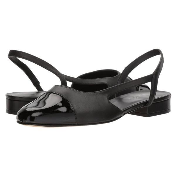 ヴァネリ Vaneli レディース スリッポン・フラット シューズ・靴 Fabiyn Black Nappa/Black Patent