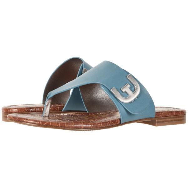 サム エデルマン レディース ビーチサンダル シューズ・靴 Barry Denim Blue Vaquero Saddle Leather
